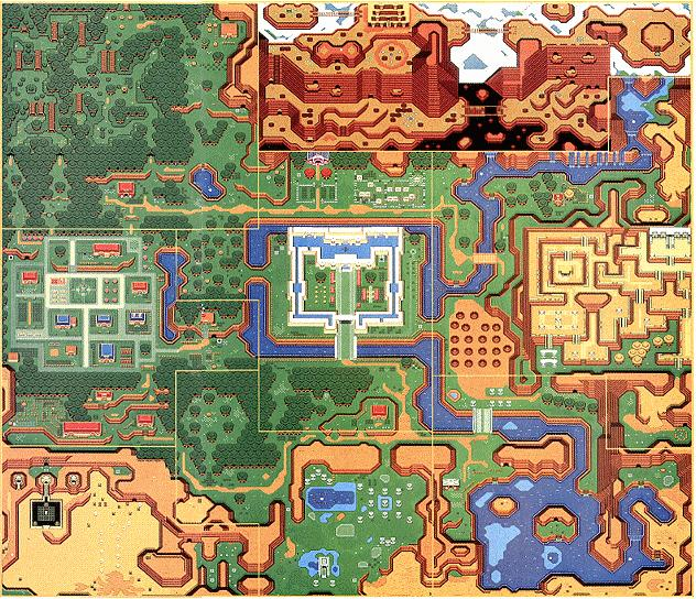 Link To The Past Light World Map.Link To The Past Maps Zelda Xtreme
