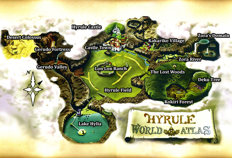 Ocarina Of Time Map Ocarina of Time Maps   Zelda Xtreme