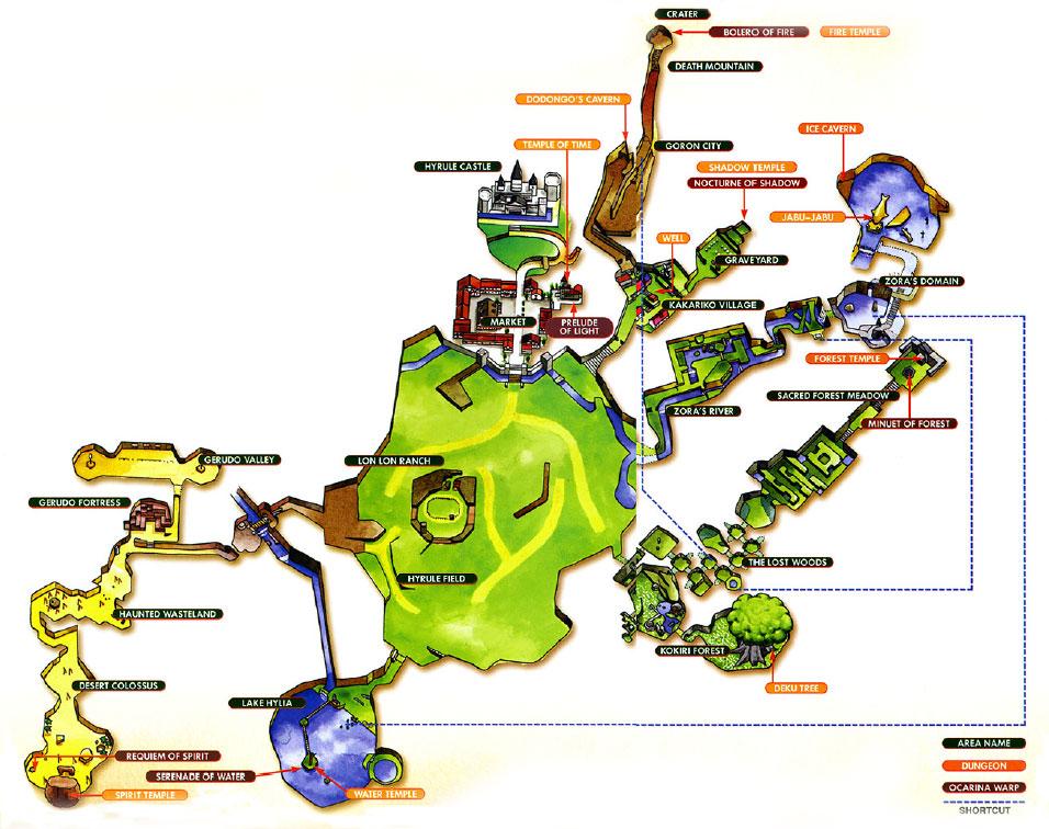 Ocarina Of Time Maps Zelda Xtreme
